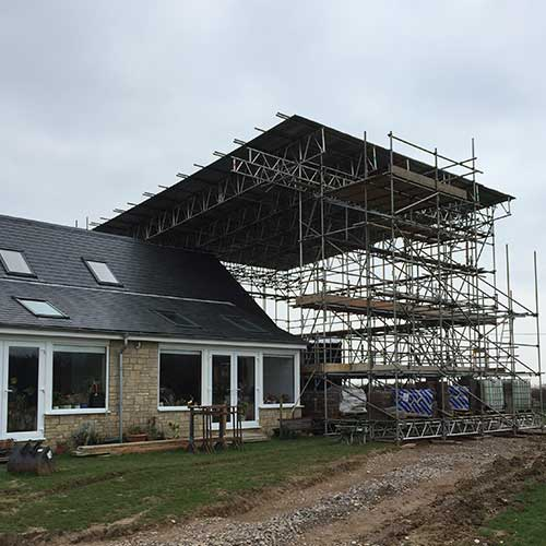 Axminster Solar panel scaffolding project by RBS