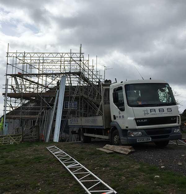 Building scaffolding devon