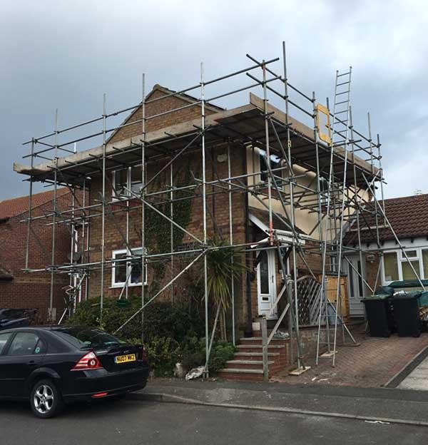 House scaffolding devon