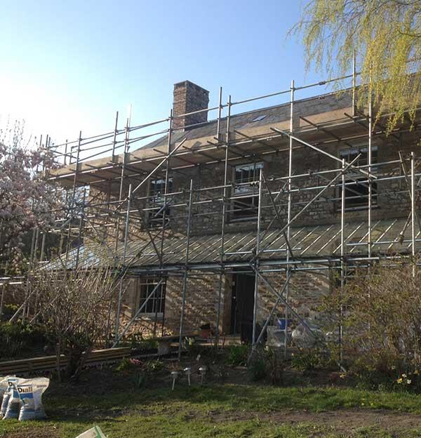 Roof scaffolding devon