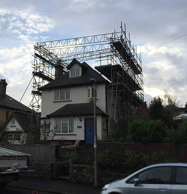 Specialist home scaffolding