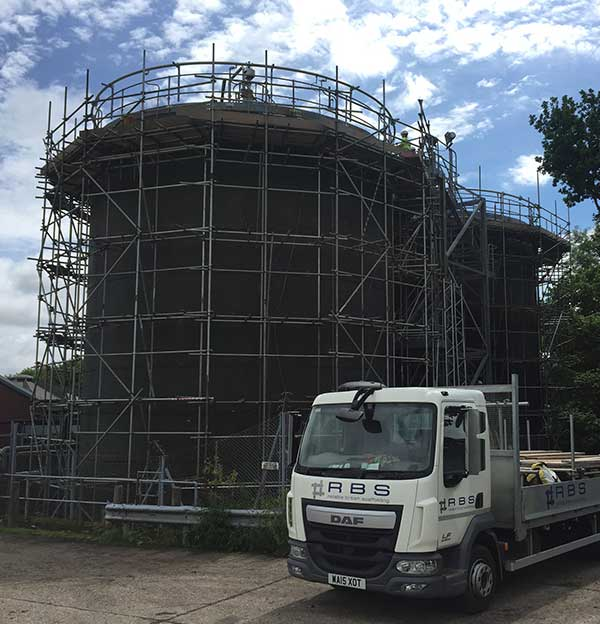 Scaffolding for confined spaces devon